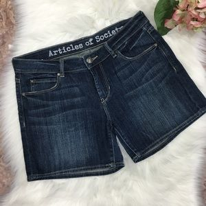 Articles of society kira denim jean shorts